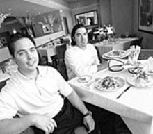 JENNIFER  SILVERBERG - Italian stylin': Michael (left) and Marc Del Pietro preside over the new Luciano's Trattoria