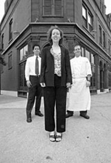 JENNIFER  SILVERBERG - Sidney Street's talented trio: Mina Nashan and - brothers Chris (left) and Kevin Nashan.