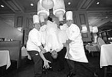 JENNIFER  SILVERBERG - Eau my! (l to r) Cook David Lawhorn, sauté cook Kurt Glock, chef de cuisine David Gilbert, sous chef John Clover and row cook Ryan McLaughin (not pictured: pantry cook James Clark)