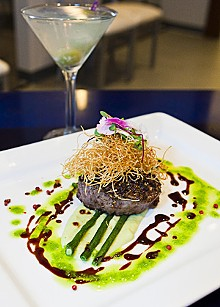 STEW SMITH - Kind of blue: Szechuan peppercorn-crusted filet of beef at Ice Kitchen.