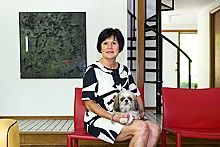 JENNIFER SILVERBERG - Maria Everding, St. Louis' First Lady of Etiquette, and her Shih Tzu, Lulu.