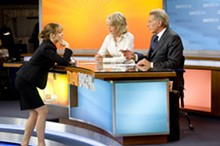 "MACALL POLAY - (Left to right) The morning national news program, ""Daybreak,"" has a new producer, Becky Fuller (Rachel McAdams) who must referee the show's two bickering hosts, Colleen Peck (Diane Keaton) and Mike Pomeroy (Harrison Ford) in Paramount Pictures' comedy ""Morning Glory."""