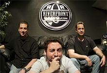 JENNIFER SILVERBERG - RiverfrontRadio's Dan Miles, DJ Mahf and Jon Hearst.