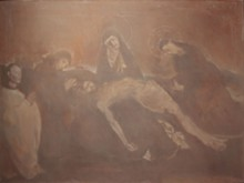 James Rosen, Homage to the Pietà d'Avignon, 1989-91, oil, oil/wax emulsion on canvas. Collection of the Museum of Contemporary Religious Art.