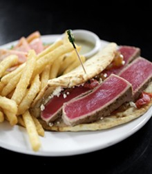JENNIFER SILVERBERG - The ahi tuna gyro. Click here for a complete slideshow from the Market Grill.