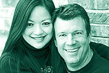 Above: Husband and wife, Susan Wu and Andrew Gladney, in a photo from happier times. Below: Gladney in December 2007.