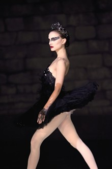 NIKO TAVERNISE - Natalie Portman shakes a tail feather in Black Swan.
