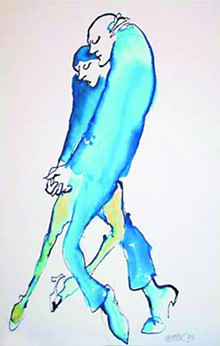 COURTESY JULES FEIFFER - Jules Feiffer's Blue Tango.