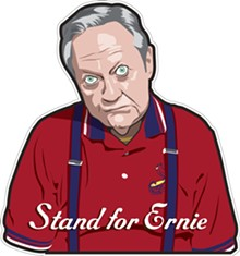 Stand for Ernie.