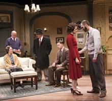 JOHN LAMB - Elizabeth Townsend, Gary Wayne Barker, Jerry Vogel, Aaron Orion Baker, Julie Layton and Jordan Reinwald in New Jewish Theatre's Awake and Sing!