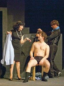 JOHN LAMB - Sarajane Alverson, Martin Fox and Stephen Peirick get undressed to impress.