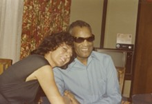 COURTESY MARCI SOTO - Marci Soto with Ray Charles. - .