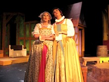 Great shakes: Suki Peters and Jamie Marble star as the two rich, merry wives in the bard's spirited comedy.