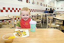 JENNIFER SILVERBERG - Oh, baby: Five Guys Burgers and Fries is already making a big impression on the area.