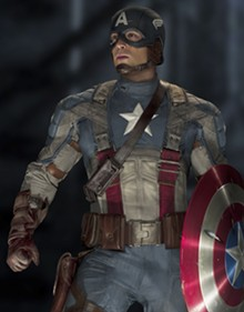 COURTESY OF PARAMOUNT PICTURES AND MARVEL STUDIOS - What's he fighting for? Chris Evans as Captain America.