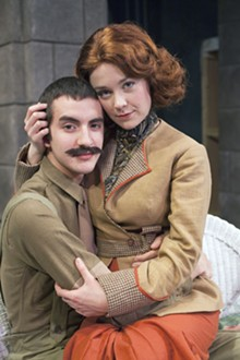 JOHN LAMB - Gregory B. Cuellar and Katie McGee in Saint Louis University's Much Ado About Nothing.