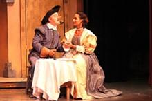 KIM CARLSON - Todd Gillenardo and Andrea Purnell in St. Louis Shakepeare's Cyrano de Bergerac.