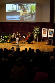 KHOLOOD EID - A scene from the October 1 memorial service for Bob Cassilly.