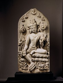 ASIA SOCIETY, NEW YORK: MR. AND MRS. JOHN D. ROCKEFELLER 3RD COLLECTION - Bodhisattva Avalokitesvara in the Form of Khasarpana Lokesvara, late 11th or early - 12th century, India, Bihar or Bengal.