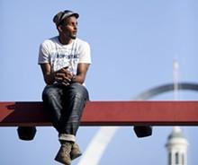 JENNIFER SILVERBERG - Jamar Simon, 24, at Occupy St. Louis.