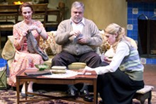 JOHN LAMB - Laurie McConnel, Greg Johnston and Alexandra Woodruff in The Last Night of Ballyhoo.