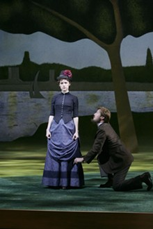 JERRY NAUNHEIM JR. - On point: Erin Davie and Ron Bohmer in the masterful Sunday in the Park with George.