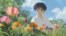 DISNEY - Human boy Shawn is astonished when he visits the garden and discovers Arrietty, a tiny person who lives hidden with her family under the floorboards of his house.