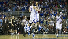 DAVID EULITT/MCT/NEWSCOM - Kansas Jayhawks center Jeff Withey (5) stands seven feet tall, but NC State can rebound with the best of them.