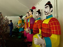 PHOTO BY SONIA LALLA, COURTESY OF THE MISSOURI BOTANICAL GARDEN. - Warrior lanterns at MOBOT's - Lantern Festival.