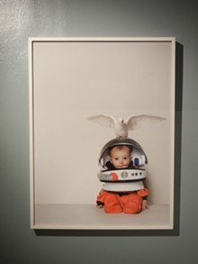 Contemporary Icons at the Cecil R. Hunt Gallery: Daniela Kostova, Cosmonaut, 2011  c-print