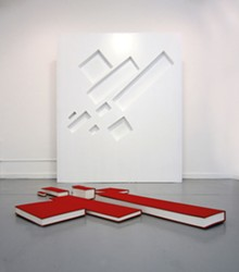 Buzz Spector: Malevich: with eight red rectangles