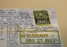 Lyrics on a postcard