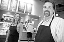 """JENNIFER  SILVERBERG - That's amore: Kelli (left) and Todd Sanders have a hit - in their charming """"mom-and-pop pasta shop."""""""