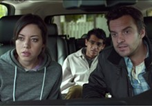 Aubrey Plaza, Karan Soni and Basil Harris in Safety Not Guaranteed.