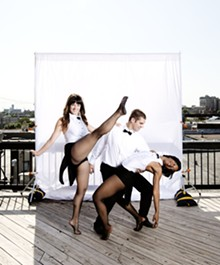 JENNIFER SILVERBERG - Dancers from Ashleyliane Dance Company:  Michelle Bohn, Jake Henke and Ashley Tate.