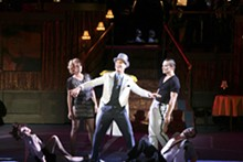 LARRY PRY/THE MUNY - Justin Guarini, season one runner- up of American Idol, now stars in Chicago currently playing at the Muny.