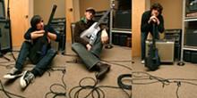 The Blind Eyes at Firebrand enjoying the spoils of the studio.