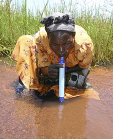 "© 2005 VESTERGAARD FRANDSEN - LifeStraw®. Designer: Torben Vestergaard Frandsen. Manufacturer: Vestergaard Frandsen, S.A. China and Switzerland (current version), 2005. High‐impact polystyrene (outer shell), halogen‐based resin, anion exchange resin and patented activated carbon (interior), 10 x 1"" diameter."