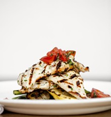 JENNIFER SILVERBERG - Chicken Griglia - Amish, cage free, grilled marinated chicken served with grilled vegetables