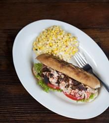 JENNIFER SILVERBERG - Sassy JAC's crawfish salad sandwich includes oven-dried pancetta, tomatoes and basil.