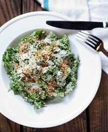 JENNIFER SILVERBERG - Shaved kale salad with creamy anchovy dressing, pecorino and breadcrumbs. Slideshow: Pastaria in Clayton Photos
