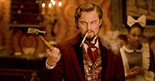 Leonardo DiCaprio in Django Unchained.