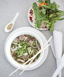 JENNIFER SILVERBERG - Pho' Dac Biet (Special Beef Noodle Soup) - Sliced beef, tendon, meatball, beef tripe, beef shank, vegetables and rice noodle in beef broth. See more photos of St. Louis Pho here