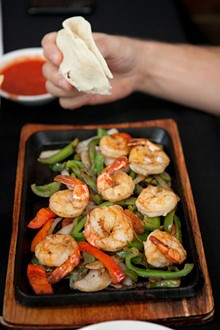 CRYSTAL ROLFE - Shrimp Fajitas. Slideshow: Laredo on Lafayette Square