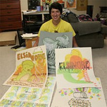 JILL RITTER - John Vogl with some of his posters.