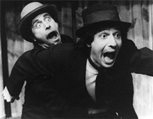 Salomon and Miller rehearsing for Theatre Project Company's 1979 production of Waiting for Godot.