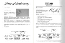 COURTESY STEVE STERPKA - PSA provided a letter of authenticity endorsing the Lindbergh signature in May 2008. They reversed course when it was asked to evaluate the Lindbergh again over a year later. This time, the autograph was deemed a likely fake.