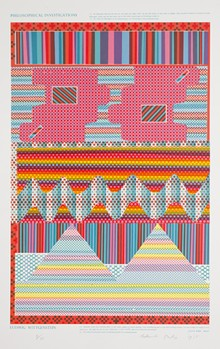 Eduardo Paolozzi, British, 1924-2005; Assembling Reminders for a Particular Purpose, from the portfolio As Is When, 1965; screenprint and stencil; sheet: 37 7/8 × 26 inches; Saint Louis Art Museum, Gift of Nancy Singer 99:1966 © Artists Rights Society (ARS), New York, NY/DACS, London