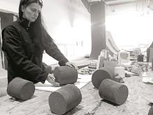 (C) 2018 CORDAY STUDIO - Christine Corday at work in her studio.