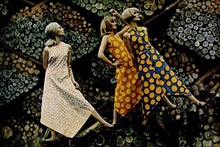"""Bright Spirit of Marimekko,"" taken June 24, 1966, by Tony Vaccaro for cover of LIFE magazine © Tony Vaccaro"